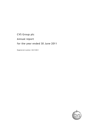 Cvs Group Plc annual report 2011