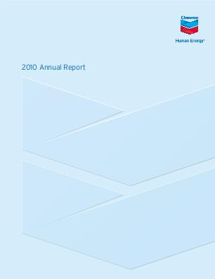 Chevron annual report 2010