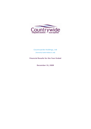 Countrywide Plc annual report 2009