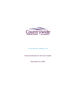Countrywide Plc annual report 2010