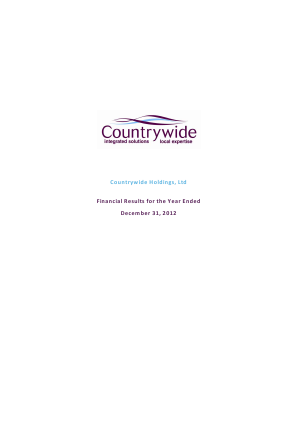 Countrywide Plc annual report 2012