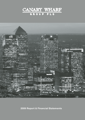 Canary Wharf Group annual report 2009