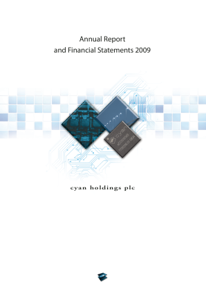 Cyan Holdings Plc annual report 2009