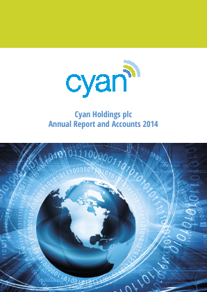 Cyan Holdings Plc annual report 2014