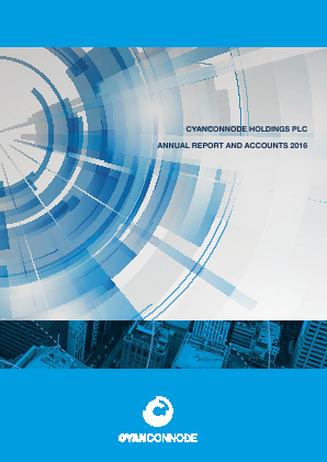 Cyan Holdings Plc annual report 2016