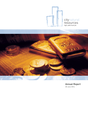 City Natural Resources High Yield Trust annual report 2014