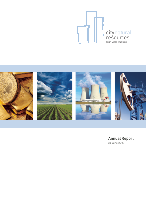 City Natural Resources High Yield Trust annual report 2015