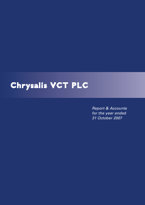Chrysalis VCT annual report 2007