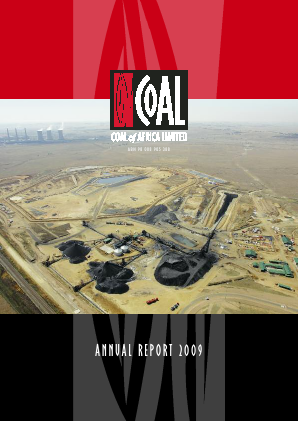 MC Mining (Previously Coal Of Africa) annual report 2009