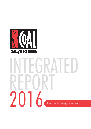 Coal Of Africa annual report 2016