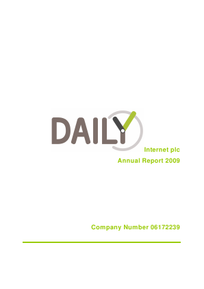 SYSGroup (previously Daily Internet) annual report 2009