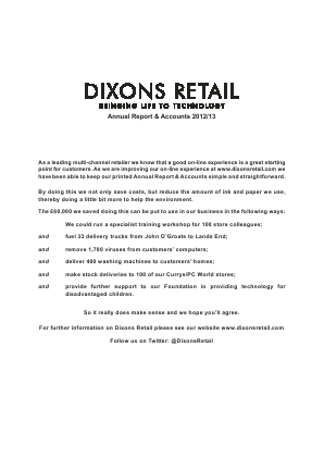 Dixons Carphone Plc annual report 2013