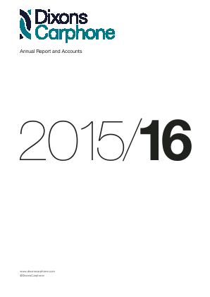 Dixons Carphone Plc annual report 2016