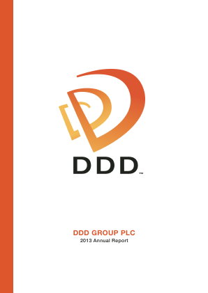 Ddd Group Plc annual report 2013