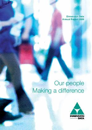 Dimension Data Holdings annual report 2009