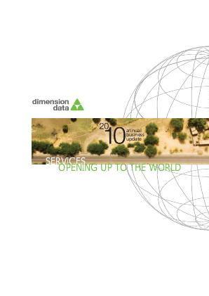 Dimension Data Holdings annual report 2010
