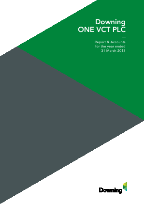 Downing One VCT Plc annual report 2013