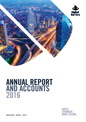 Digital Barriers Ltd annual report 2016