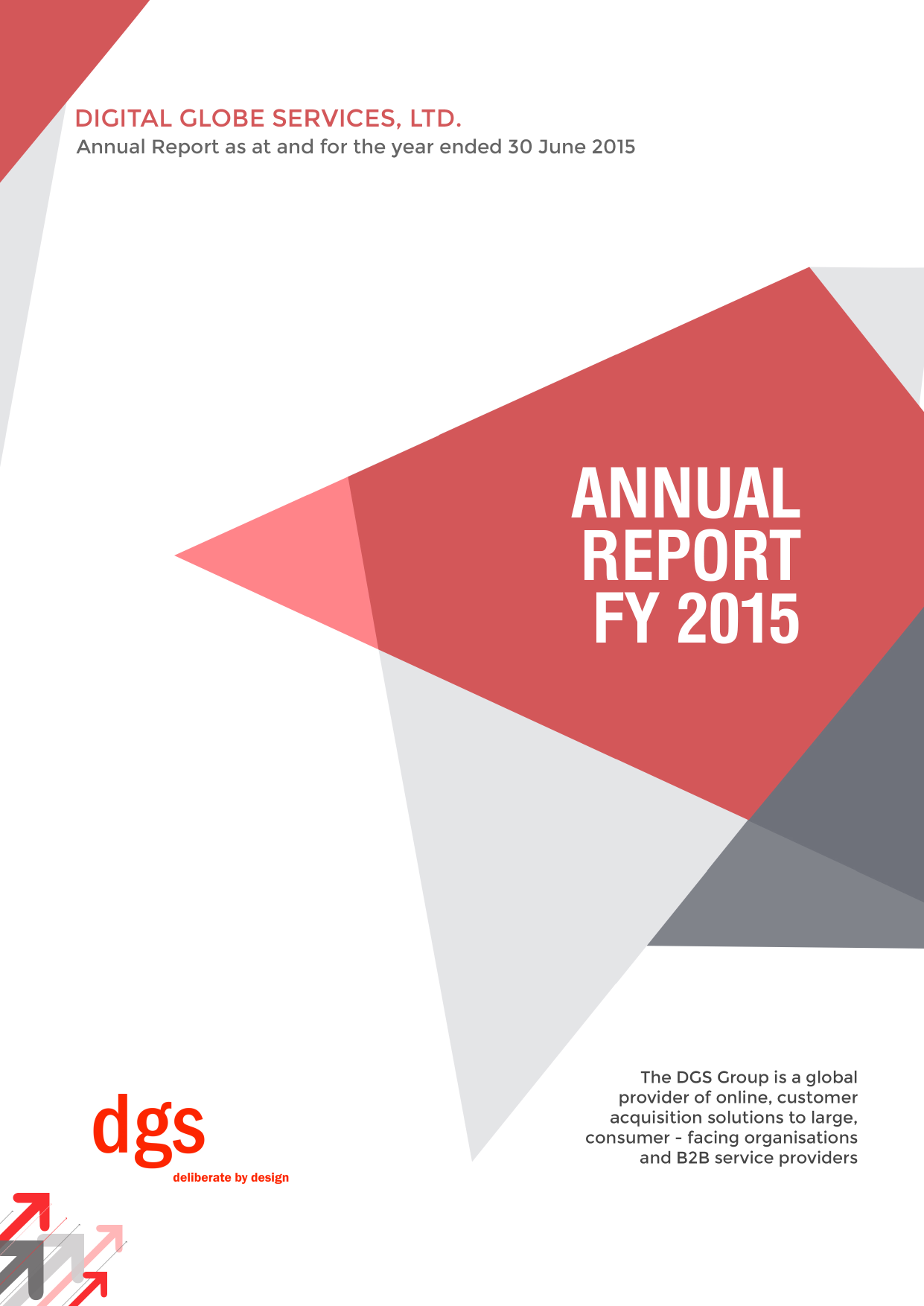 Digital Globe Services annual report 2015
