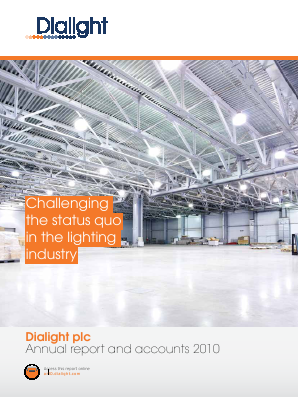 Dialight annual report 2010