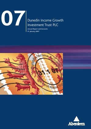 Dunedin Income Growth Invest Trust annual report 2007