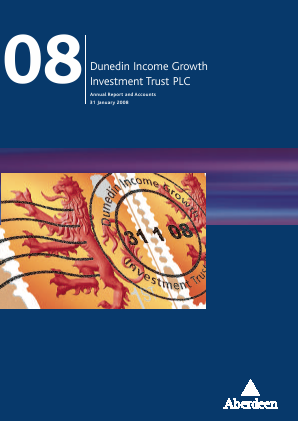 Dunedin Income Growth Invest Trust annual report 2008