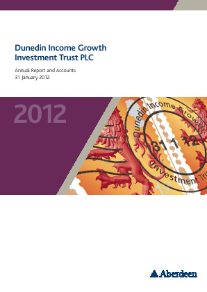 Dunedin Income Growth Invest Trust annual report 2012