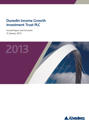 Dunedin Income Growth Invest Trust annual report 2013