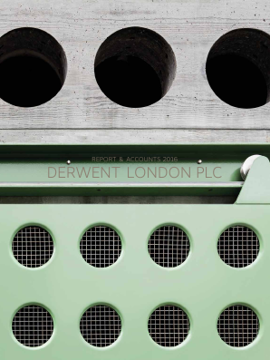 Derwent London Plc annual report 2016