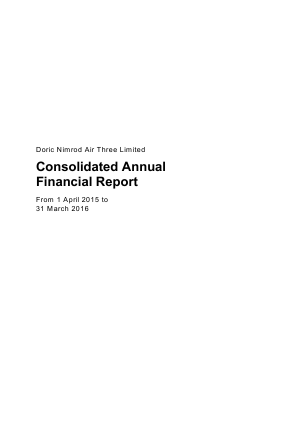 Doric Nimrod Air Three Ltd annual report 2016