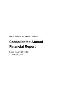 Doric Nimrod Air Three annual report 2017