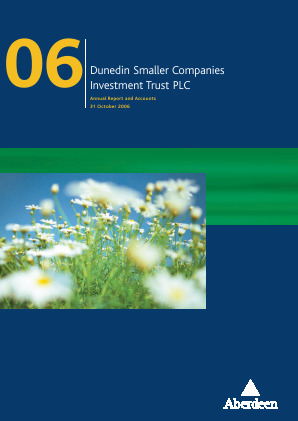 Dunedin Smaller Companies Investment Trust Plc annual report 2006