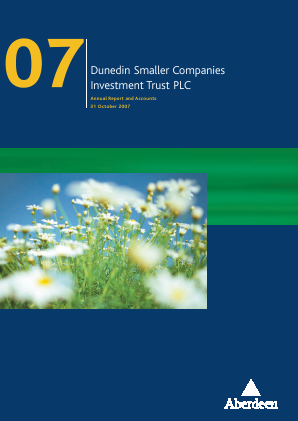 Dunedin Smaller Companies Investment Trust Plc annual report 2007