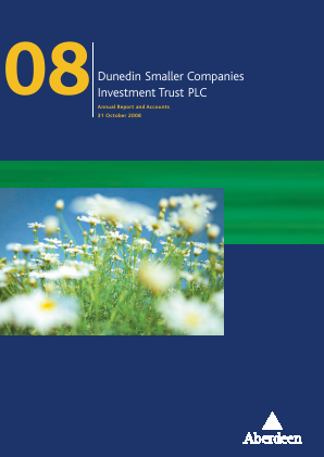 Dunedin Smaller Companies Investment Trust Plc annual report 2008