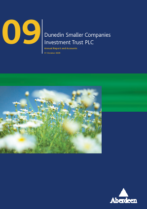 Dunedin Smaller Companies Investment Trust Plc annual report 2009