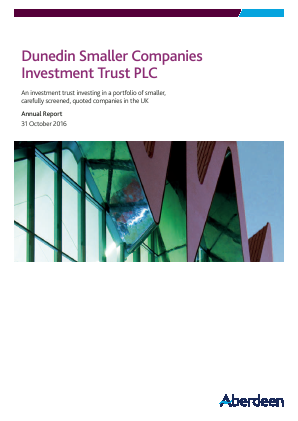 Dunedin Smaller Companies Investment Trust Plc annual report 2016