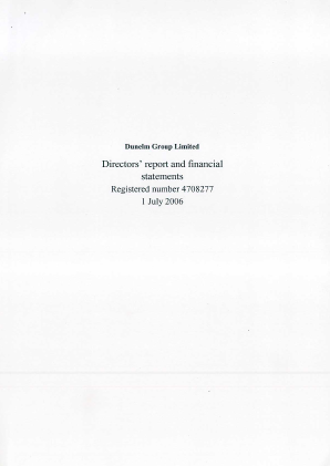 Dunelm Group Plc annual report 2006