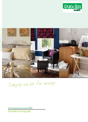 Dunelm Group Plc annual report 2009