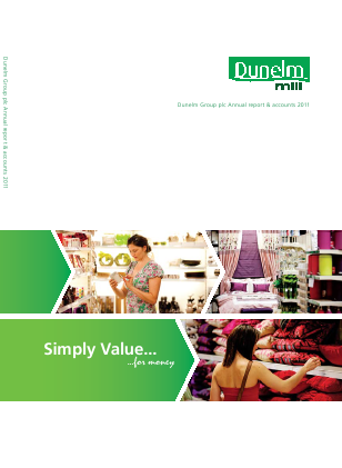 Dunelm Group Plc annual report 2011