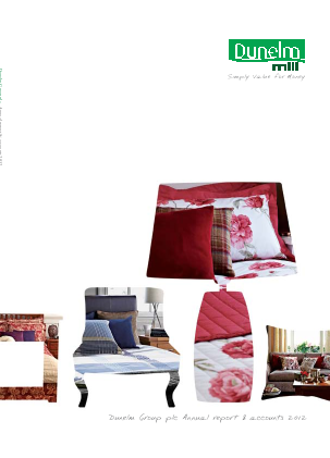 Dunelm Group Plc annual report 2012