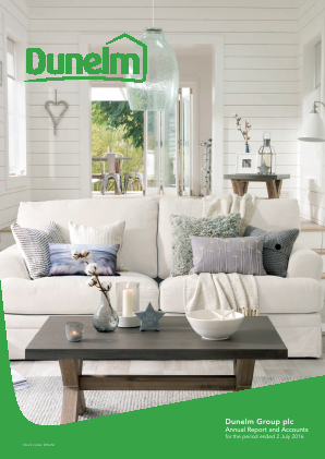 Dunelm Group Plc annual report 2016