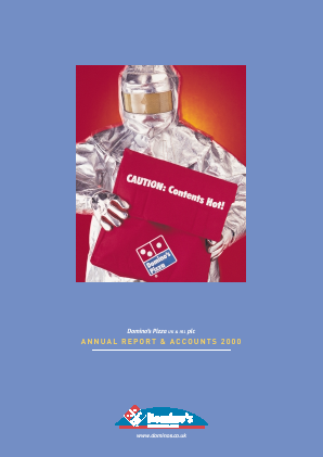 Dominos Pizza Group Plc annual report 2000