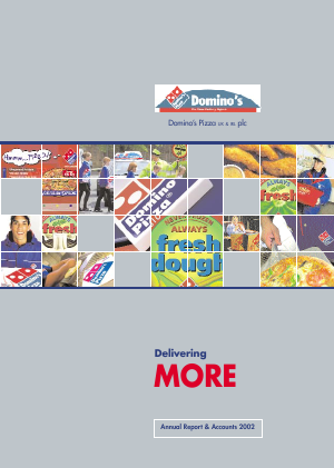 Dominos Pizza Group Plc annual report 2002