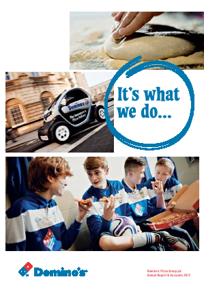 Dominos Pizza Group Plc annual report 2012