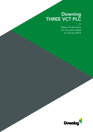 Downing Three VCT Plc annual report 2012
