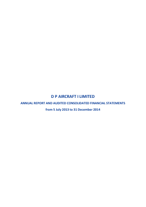 DP Aircraft I annual report 2014