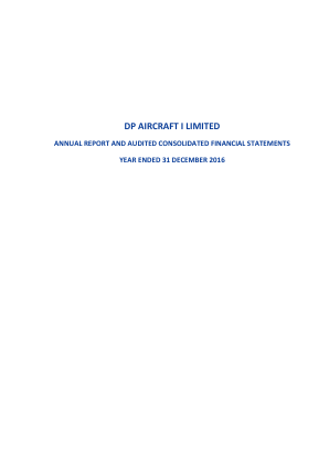 DP Aircraft I annual report 2016