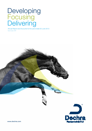 Dechra Pharmaceuticals annual report 2013