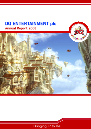 Dq Entertainment Plc annual report 2008