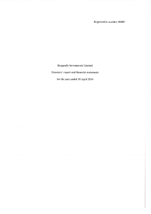 Draganfly Investments annual report 2014